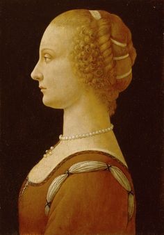 """Andrea Verrocchio circa 1485 OR A RECENTLY EXPOSED FAKE LEONARDO/VERROCCHIO : A Young Woman bought in 1936 by the Detroit Institute of Arts as a work by Andrea del Verrocchio or Leonardo da Vinci. Following technical examination, this work is now described as being by an """"Imitator of Andrea Verrocchio in about 1880-1920"""""""