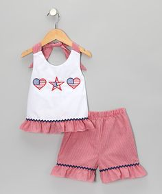 Take a look at this White 4th of July Halter Top & Shorts - Infant, Toddler & Girls by Candyland on #zulily today!