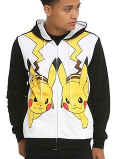 9b12cc3c0bb Pokemon Pikachu Mirror Hoodie