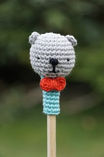 Pencil topper: Link to pattern on the blog