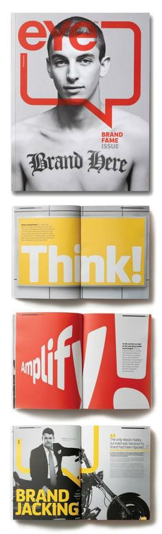 A strong typography for this magazine graphic design.