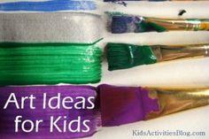 Kids Art Ideas: Exploring Paint Brushes - Kids Activities Blog
