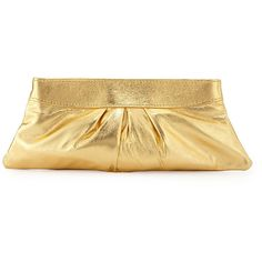 Lauren Merkin Eve Leather Evening Clutch Bag ($75) ❤ liked on Polyvore featuring bags, handbags, clutches, gold, beige leather purse, leather handbags, metallic leather handbags, beige handbags and genuine leather handbags