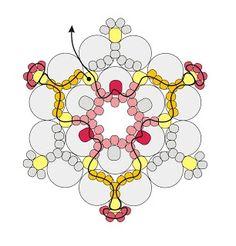 Aprenda a fazer a técnica do entrelaçamento através do passo a passo de flores de miçangas do post de hoje. Venha aprender a fazer bijuterias aqui no blog!