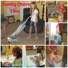 Family chores - How to: FAMILY CHORES   With 6 kids I am constantly being asked how we handle chores in our house. What kids do what chores? Do we pay for chores? What age do you start chores? How do you take care of all that laundry? etc. There are lots more but you get the idea, so I thought I would share