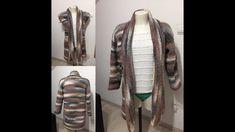 Tuto veste au crochet - YouTube Points, Stitches, Crochet Patterns, Couture, Crochet Coat, Sacks, Left Handed, Kids Crochet, Jacket