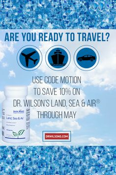 Dr. Wilson's Land, Sea & Air is an all-natural, non-drowsy motion comfort aid for the whole family. Save 10% through May with code MOTION at drwilsons.com! Effects Of Stress, Adrenal Fatigue, Coding, Sea, The Originals, Natural, Travel, Viajes, The Ocean