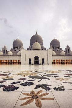 SHEIKH ZAYED GRAND MOSQUE, ABU DHABI, UAE  With 82 domes and enough room to accommodate 40,000 worshippers, the Sheikh Zayed Grand Mosque is not only one of the largest mosques in the world but also one of the most beautiful with a marble courtyard featuring mosaics of flowers native to the Middle East.