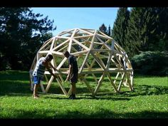 Test Geodesic Dome 3V - YouTube