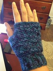 Ravelry: Grit Stitch Fingerless Mitts pattern by Carlena Johnson