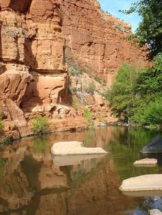 6 Arizona swimming holes ... 3 of them in the Camp Verde area, including this one about 15 miles east of Camp Verde along West Clear Creek. It's about 10 feet at its deepest.