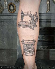 Sewing machine and typewriter | Etching, linework, engraving. Milan, Italy. #purotattoostudio #marcocmatarese #matarese #incisione #etching #engraving #drawing #lines #blackwork #milano #milan #tatuage #ink #tattoo #tattooist #nero #tatuatore #linework #blackart #acquaforte #blackline #tattooideas #inktattoo #black #crossetching #purotattoostudio #sewingmachine #typewriter