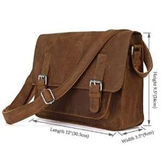 Crazy Horse HANDMADE 1ST Leather Men's Brown Shoulder Messenger Bag Cross Body Bag,M73 $165