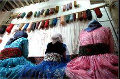 Persian rug weavers,Tabriz, Iran