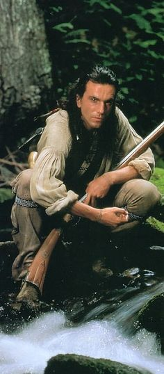 """Daniel Day Lewis as Hawkeye in """"The Last of the Mohicans"""" Badass Movie, Movie Stars, Movie Tv, Eric Schweig, Theater, Daniel Day, My Past Life, Wolf Spirit Animal, Day Lewis"""