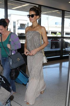 Dressed to impress: Kate Beckinsale looked lovely as she rocked a boho vibe at LAX airport