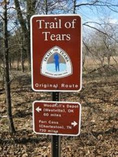 Trail of Tears National Historic Trail, Tennessee, North Carolina, Georgia, Alabama, Florida and Mississippi