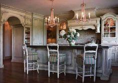 Vintage Küche einrichten-Shabby Chic Möbel und Accessoires in Used ...