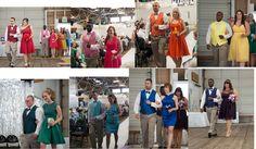 Beautiful rainbow bridesmaid groomsmen wedding party