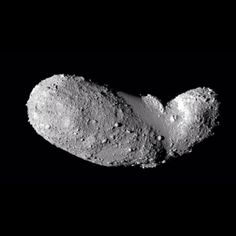February 5, 2014. A peanut-shaped asteroid called Itokawa. This picture, released today, comes from the Japanese spacecraft Hayabusa during its close approach in 2005. #deepcor  #asteroid #astronomy #science #hayabusa #photography #space