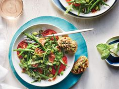 Fresh Pea, Prosciutto, and Herb Salad | Finding recipes for two doesn't mean you have to be stuck with lots of leftovers. These delicious dinners for two range from weeknight classics to anniversary-worthy dining events. Most of these recipes are easily ready long before take out pizza could arrive on your doorstep. Tonight, try an inspired recipe for two that will bring fun back to the kitchen and flavor to the table. Whether you're ready to roll your own spring rolls or dying to fire up…