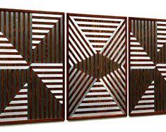 MetalDiorama & WoodArt by MetalDioramaWoodArt on Etsy Wood Wall Decor, Wood Wall Art, Geometric Wall, Modern Wall Art, Bedroom Wall, Living Room Decor, Etsy Seller, Creative, Vintage