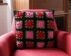 Cushion cover. Granny square.