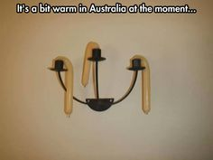 It's hot in Australia…  At first glance I thought someone hung condoms from a chandelier...