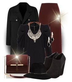 """marsala and black work outfit."" by ashtagery ❤ liked on Polyvore featuring River Island, Jane Norman, Anine Bing, WorkWear, polyvorecommunity, WearIt and marsala"