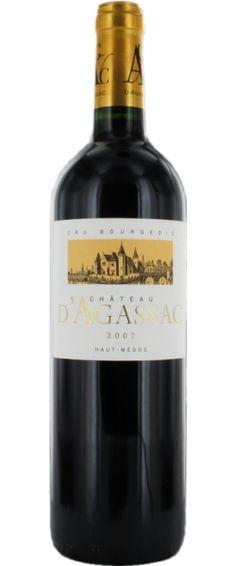 Château d'Agassac 2007 - Cru Bourgeois du Médoc - 15/20 : Déjà agréable, la très belle structure de ce vin se combine entre le fruit et la minéralité, et nous délivre une trame tannique souple et onctueuse...  En savoir plus : http://avis-vin.lefigaro.fr/vins-champagne/bordeaux/medoc/haut-medoc/d15894-chateau-d-agassac/v15895-chateau-dagassac/vin-rouge/2007#ixzz3DN2PVaFC