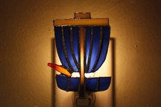 Stained Glass Disc Golf Basket Night Light on Etsy, $28.00