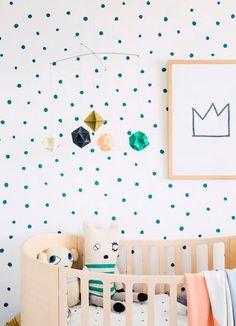 habitaciones infantiles: originales paredes decoradas con pintura