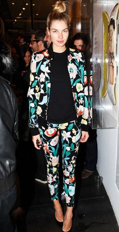 Jessica Hart in head-to-toe floral!