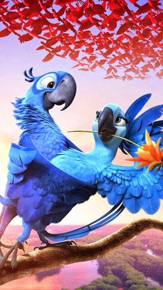 Birds happier than me Rio Film, Rio Movie, Disney Kunst, Disney Art, Disney Movies, Disney Pixar, Cute Cartoon Wallpapers, Movie Wallpapers, Disney Phone Wallpaper