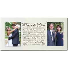 """Amazon.com - Parent Wedding Gift, Wedding Photo Frame, Parent thank you gift, wedding picture frame gift for Bride and Groom, wedding gift for parents, Mom and Dad thank-you gift"""" 16"""" L X 8"""" H Model # 60790 Exclusively from DaySpring Milestones (Cherry) -"""