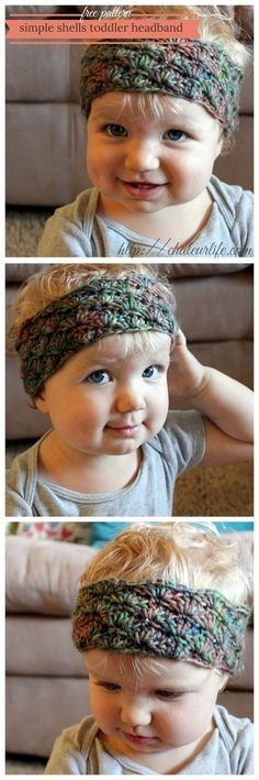 Simple Shells Toddler Headband.