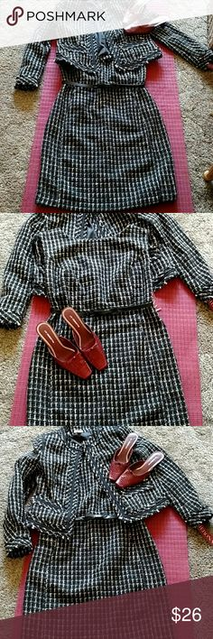 Merona dress and jacket with nubby weave Original tags  lined dress and jacket and adjustable belt on dress Dresses
