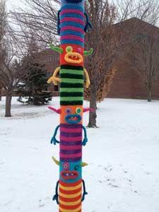 'Yarn Bomb' monsters