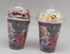 Set of 8 - Girl Pups Skye and Everest Paw Patrol Party Cups, Popcorn Cups, Goody Bags, Favor Boxes - OneStopBirthday. Girl Paw Patrol Party, Paw Patrol Party Favors, Paw Patrol Birthday Decorations, Paw Patrol Birthday Theme, Birthday Popcorn, 3rd Birthday, Birthday Ideas, Cumple Paw Patrol, Popcorn Cups