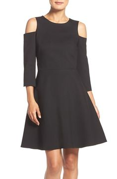 Free shipping and returns on Eliza J Cold Shoulder Ponte Fit & Flare Dress (Regular & Petite) at Nordstrom.com. Cold-shoulder cutouts bring contemporary cool to this ponte-knit LBD cast in a femininely flared silhouette.