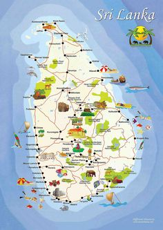 Sri Lanka Travel Map #VisitSriLanka