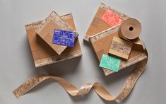 CATEGORY: CHOICE Custom Packing Tape // Designer: Kate Koeppel, Individual designer at Koeppel Design // Process: Flexography // Location: San Francisco // Why: This design canvas is delightfully unexpected.  The idea of putting illustrations related to the business and the products they make on a typically mundane material such as packing tape is a quirky surprise.  It shows attention to detail and a focus on design to the very end.  The repetition of the illustrations appears seamless.