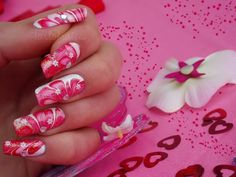 Sweet And Pink Water Marble Nail Art Design Idea For Teenage Girl Thumbnail Version