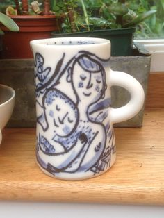 Porcelain milk jug - Mike Levy