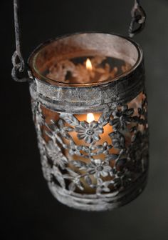 "10"" Metal & Glass Sorbonne Hanging Candle Holder $6 each"