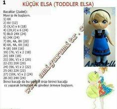 Amigurumi toodler elsa baby told construction, Doll Amigurumi Free Pattern, Crochet Doll Pattern, Afghan Crochet Patterns, Amigurumi Doll, Knitted Dolls, Crochet Dolls, Elsa Baby, Crochet Fairy, Knitted Animals