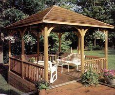 22 Free DIY Gazebo Plans & Ideas to Build with Step-by-Step Tutorials - Pergola Ideas Diy Pergola, Backyard Gazebo, Building A Pergola, Pergola Canopy, Pergola With Roof, Outdoor Pergola, Pergola Lighting, Pergola Shade, Pergola Kits