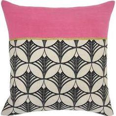 Kosas Home Suki Pillow; Bright Pink