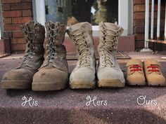 military family expecting a baby. you could change it to your shoes too