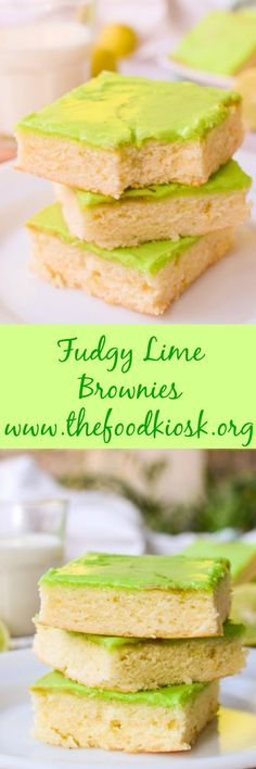 These decandent and fudgy Lime Brownies are a take on regular brownies minus the chocolate. Bursting with lime flavour, these cakes can be perfect alongside a cup of tea or coffee. #limebrownies #brownies #brownierecipe #dessertrecipes #dessert #fudgybrownies #dessertrecipes